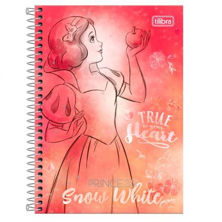 Caderno espiral capa dura 1/4 - 80 folhas - Princesas Fashion - Branca de Neve -  Tilibra