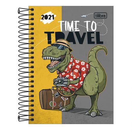 Agenda espiral diária Raptor 2021 - Capa 1 - Tilibra