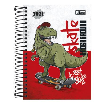Agenda espiral diária Raptor 2021 - Capa 2 - Tilibra