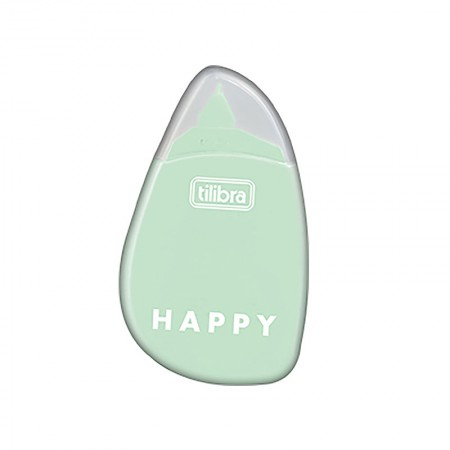 Corretivo em fita Happy - 5mm x 6m -  Verde pastel - Tilibra