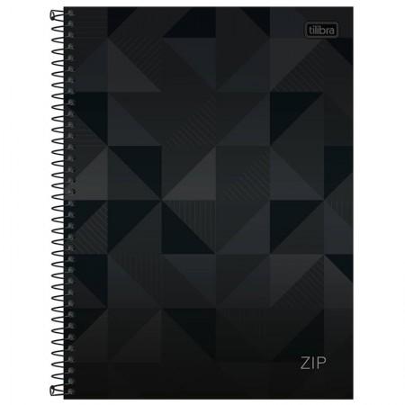 Caderno espiral capa dura universitário 10x1 - 200 folhas - Zip - Preto - Tilibra