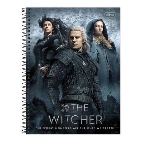 Caderno espiral capa dura universitário 1x1 - 80 folhas - The Witcher - Capa 4 - Tilibra