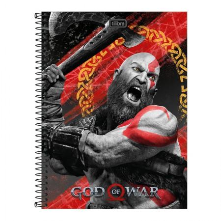 Caderno espiral capa dura universitário 10x1 - 160 folhas - God of War - Capa 3 - Tilibra