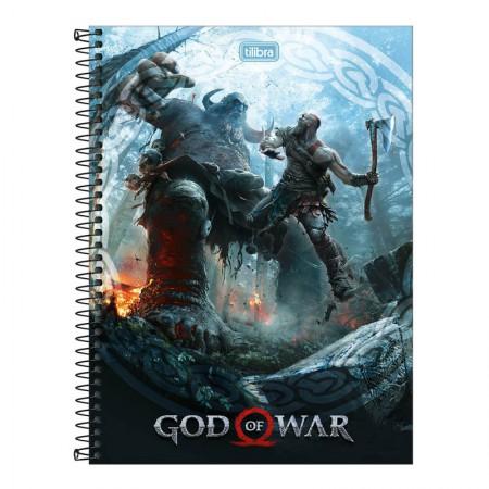 Caderno espiral capa dura universitário 10x1 - 160 folhas - God of War - Capa 4 - Tilibra