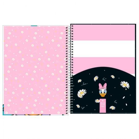 Caderno espiral capa dura universitário 1x1 - 80 folhas - Margarida - Capa 3 - Tilibra