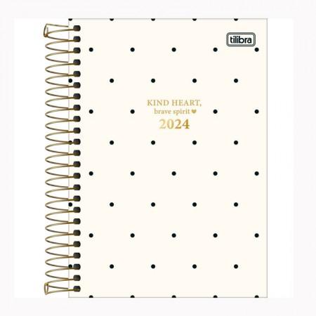 Agenda espiral diária West Village 2021 - M6 - Lista - Tilibra