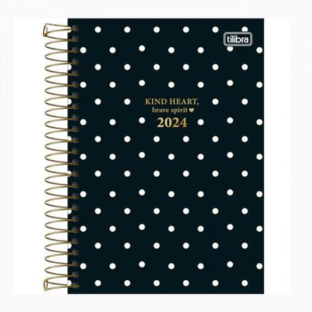 Agenda espiral diária West Village 2021 - M6 - Coração - Tilibra