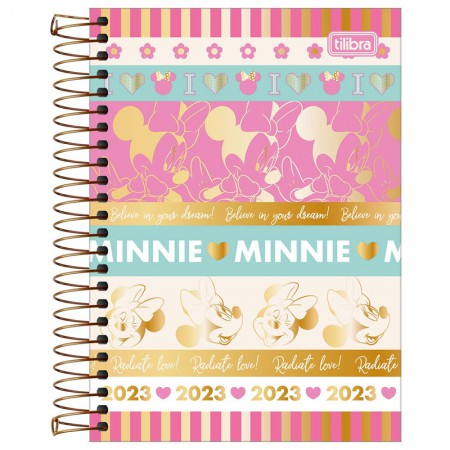 Agenda espiral diária Minnie 2022 - Capa 1 - Tilibra