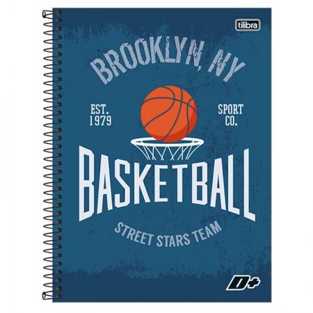 Caderno espiral capa dura universitário 10x1 - 200 folhas - D Mais - Basketball - Tilibra