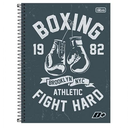Caderno espiral capa dura universitário 10x1 - 200 folhas - D Mais - Boxing - Tilibra
