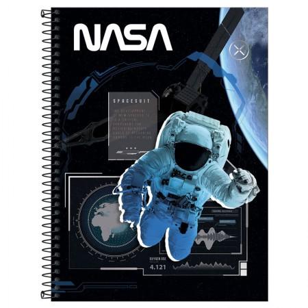 Caderno espiral capa dura universitário 1x1 - 80 folhas - NASA - Capa 3 - Tilibra
