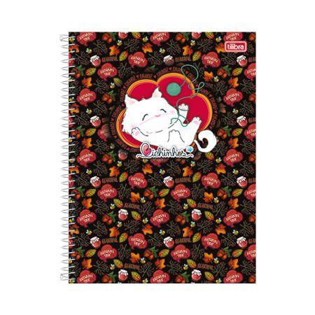Caderno capa dura espiral 1/4 - 96 folhas - Bichinhos - Outono - Tilibra