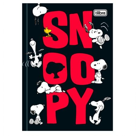 Caderno brochura capa dura 1/4 - 80 folhas - Snoopy - Capa 2 - Tilibra