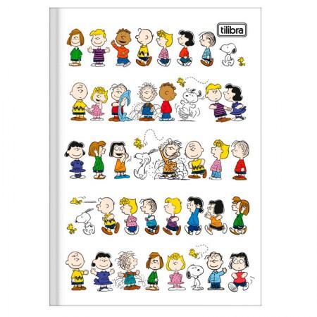 Caderno brochura capa dura 1/4 - 80 folhas - Snoopy - Capa 3 - Tilibra
