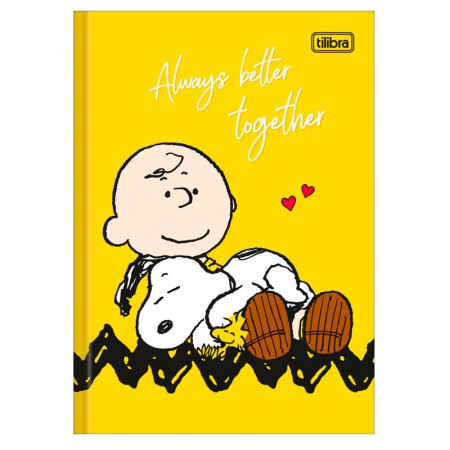 Caderno brochura capa dura 1/4 - 80 folhas - Snoopy - Capa 4 - Tilibra