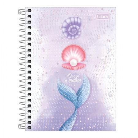 Caderneta espiral capa dura 1/8 - 80 folhas - Wonder Sereia - Capa 1 - Tilibra