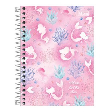 Caderneta espiral capa dura 1/8 - 80 folhas - Wonder Sereia - Capa 2 - Tilibra