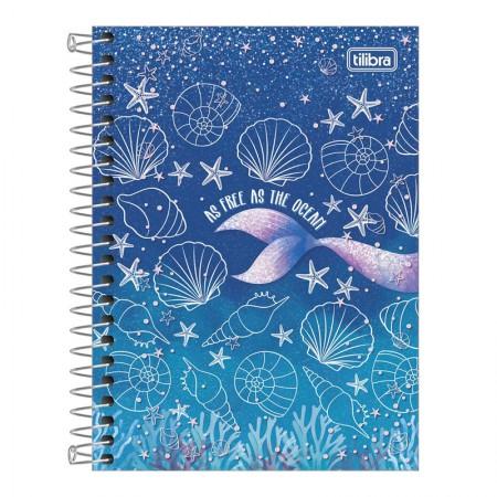 Caderneta espiral capa dura 1/8 - 80 folhas - Wonder Sereia - Capa 3 - Tilibra