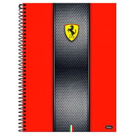 Caderno espiral capa dura universitário 1x1 - 96 folhas - Scuderia Ferrari - Capa 2 - Foroni