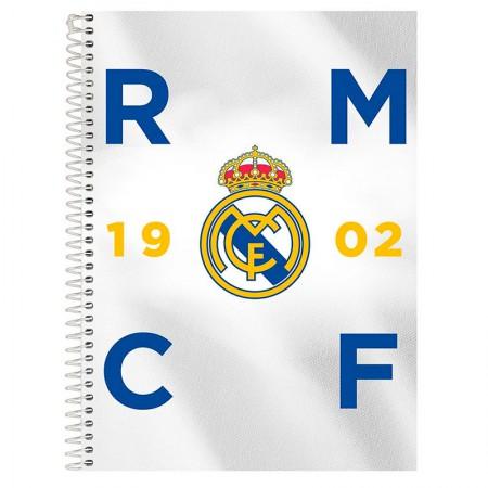 Caderno espiral capa dura universitário 10x1 - 200 folhas - Real Madrid - Capa 2 - Foroni