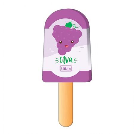 Borracha colorido Picolé - 302830 - Uva - Tilibra