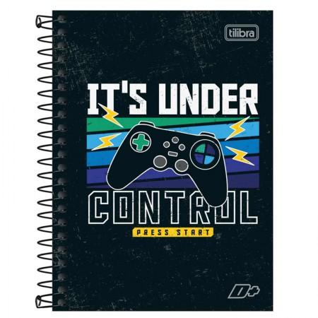 Caderno espiral capa dura 1/4 - 200 folhas - D Mais - California - Tilibra