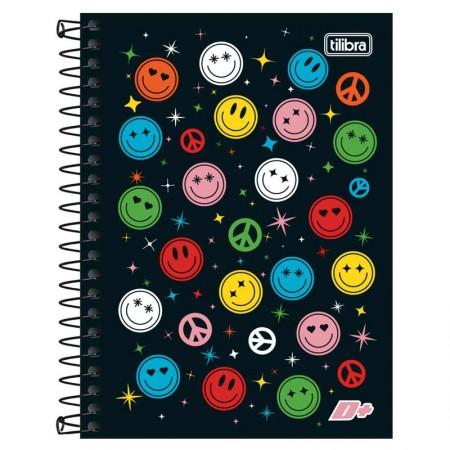 Caderno espiral capa dura 1/4 - 200 folhas - D Mais - Make it Fun - Tilibra