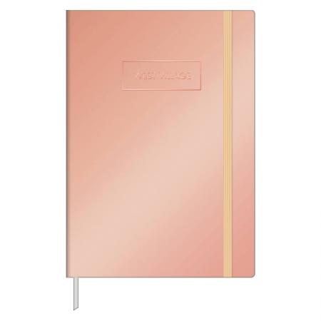 Caderneta capa dura 1/8 Fitto West Village metalizado - pontilhado - 80 folhas - Capa 1 - Tilibra
