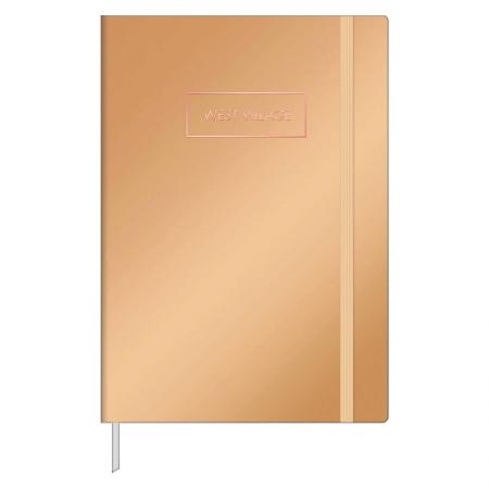 Caderneta capa dura 1/8 Fitto West Village metalizado - pontilhado - 80 folhas - Capa 2 - Tilibra