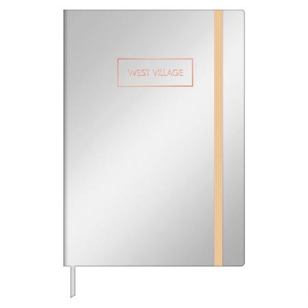 Caderneta capa dura 1/8 Fitto West Village metalizado - pontilhado - 80 folhas - Capa 3 - Tilibra