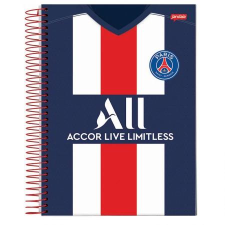 Caderno espiral capa dura universitário 10x1 - 200 folhas - PSG Paris Saint-German - Capa 1 - Jandaia