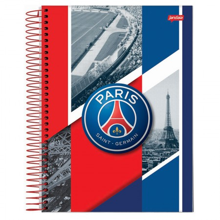 Caderno espiral capa dura universitário 10x1 - 200 folhas - PSG Paris Saint-German - Capa 3 - Jandaia