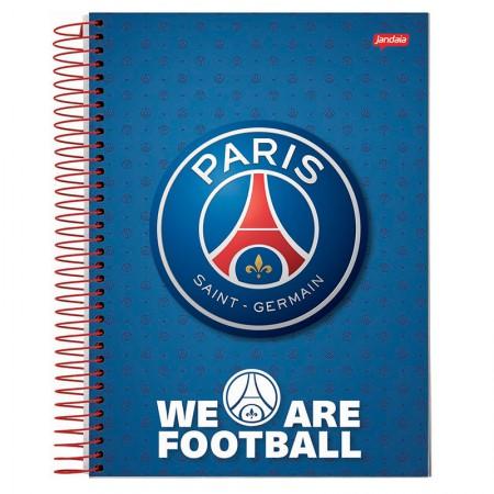 Caderno espiral capa dura universitário 10x1 - 200 folhas - PSG Paris Saint-German - Capa 4 - Jandaia
