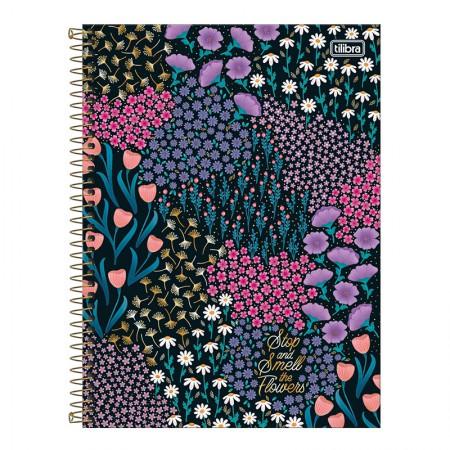 Caderno espiral capa dura universitário 10x1 - 160 folhas - Le Vanille - Preto - Tilibra