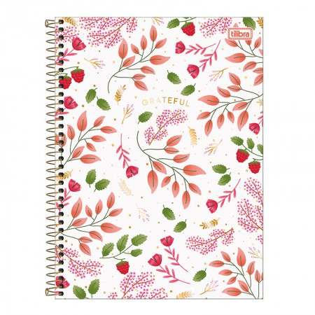Caderno espiral capa dura universitário 10x1 - 160 folhas - Le Vanille - Branco - Tilibra
