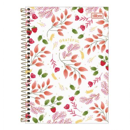 Caderno espiral capa dura 1/4 - 80 Folhas - Le Vanille - Branco - Tilibra