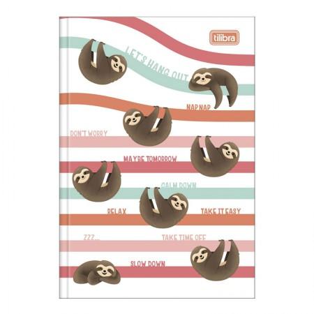 Caderno brochura capa dura 1/4 - 80 folhas - Nap Nap Preguiça - Capa 2 - Tilibra