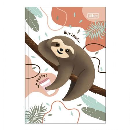 Caderno brochura capa dura 1/4 - 80 folhas - Nap Nap Preguiça - Capa 3 - Tilibra