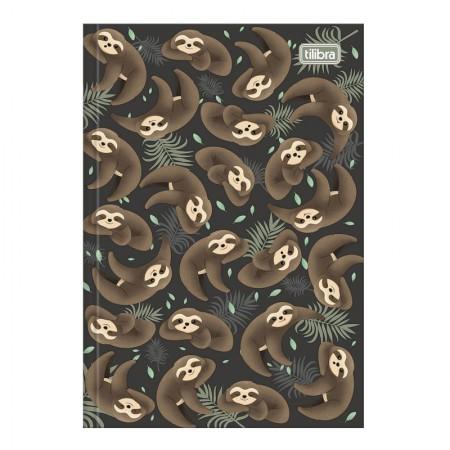 Caderno brochura capa dura 1/4 - 80 folhas - Nap Nap Preguiça - Capa 4 - Tilibra