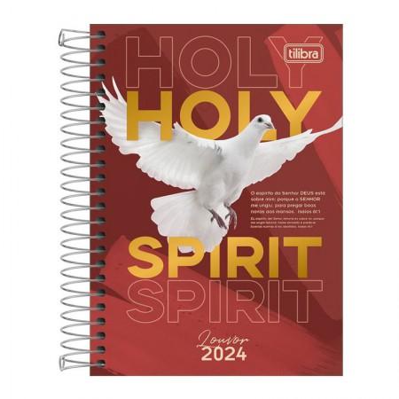 Agenda espiral diária Louvor 2021 - Capa 1 - Tilibra