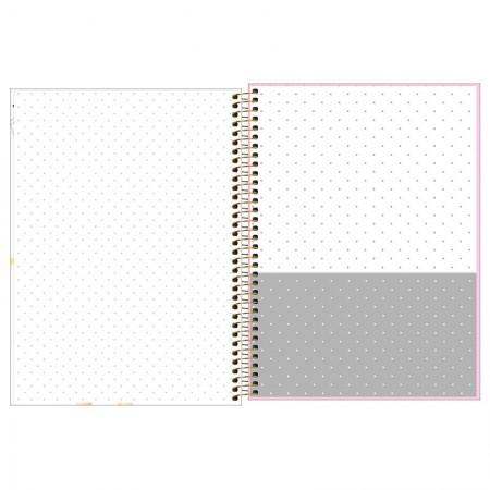 Caderno espiral capa dura universitário 1x1 - 80 folhas - Hi! Girls - Follow Your Heart - Tilibra
