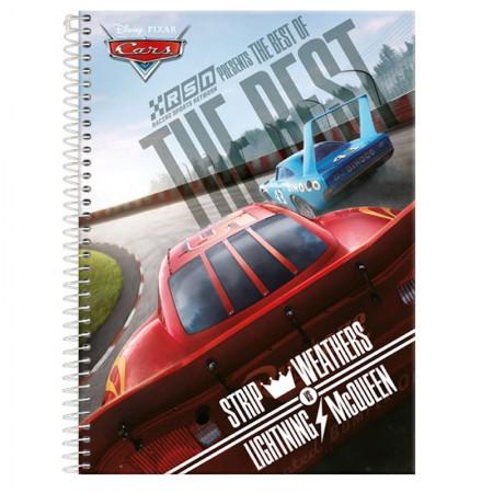 Caderno espiral capa dura universitário 1x1 - 96 folhas - Carros - The Rest - Foroni