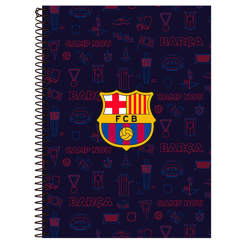 Caderno espiral capa dura universitário 10x1 - 200 folhas - Barcelona - Capa 2 - Foroni