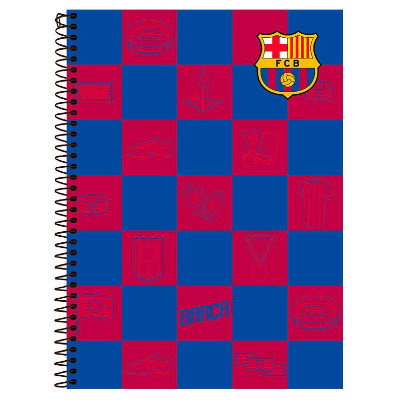 Caderno espiral capa dura universitário 10x1 - 200 folhas - Barcelona - Capa 3 - Foroni