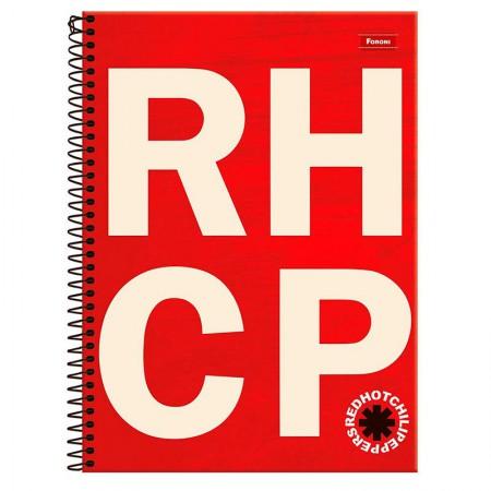 Caderno espiral capa dura universitário 10x1 - 200 folhas - Bandas de Rock - Capa 3 - Foroni
