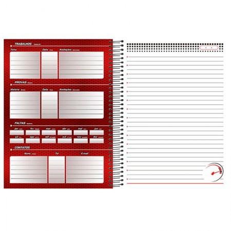 Caderno espiral capa dura universitário 1x1 - 96 folhas - Ferrari - Capa 1 - Foroni