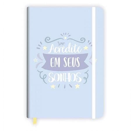 Caderneta capa dura grande fitto Candy bullet journal - 160 folhas - Azul - Redoma