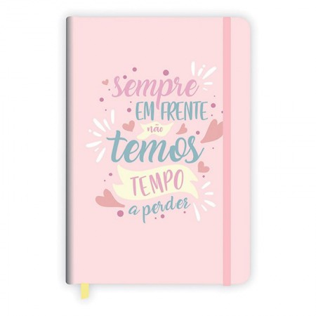 Caderneta capa dura grande fitto Candy bullet journal - 160 folhas - Rosa - Redoma