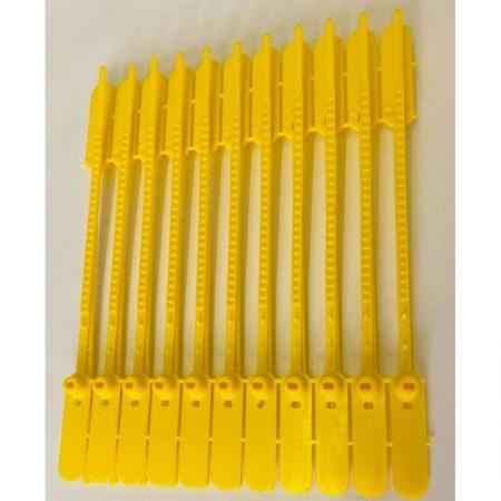 Lacre para malote 16cm - amarelo - pacote com 100 unidades - Rigoran