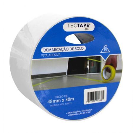 Fita para demarcação de solo 48x30 - branca - Tectape